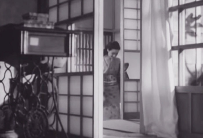 晩春-原節子-玄関シーン
