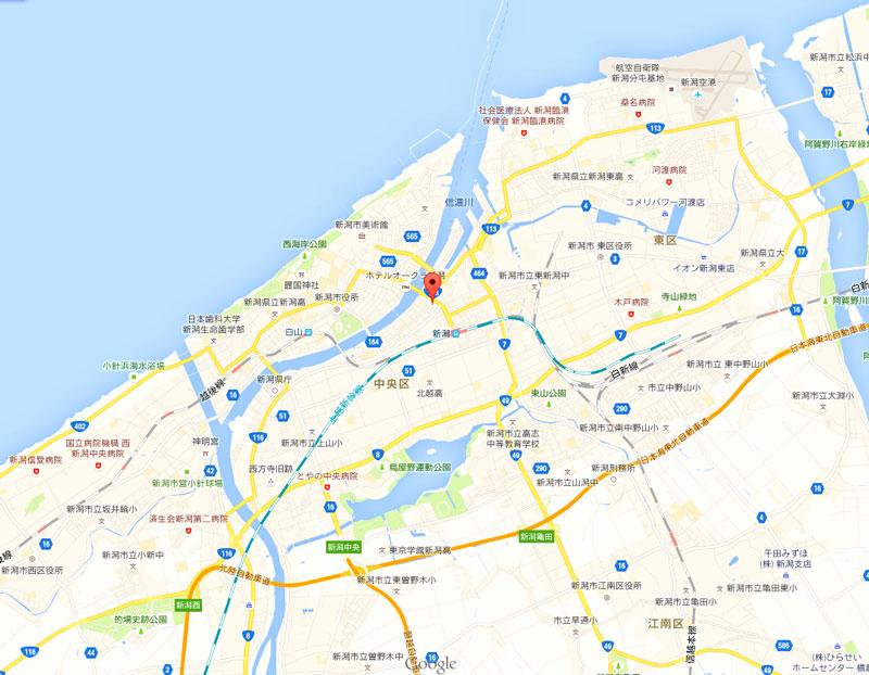 NGT48劇場-地図