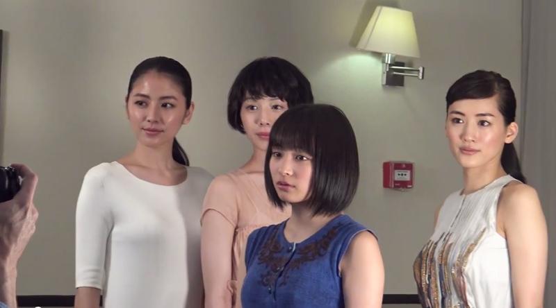 『海街diary』四姉妹(綾瀬はるか、長澤まさみ、夏帆、広瀬すず)のカンヌ取材