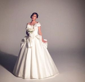中村アン-ウェディングドレス姿
