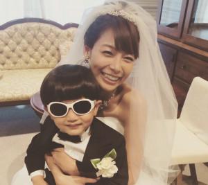相武紗希ウェディングドレス姿