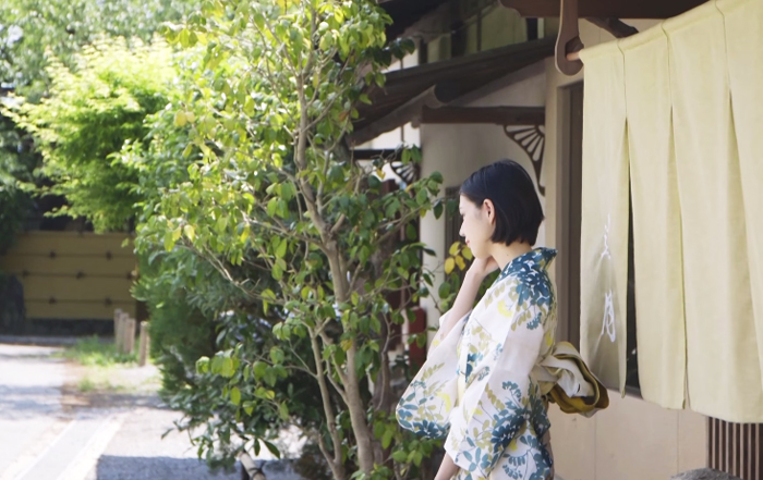浴衣姿-日本人美人女性