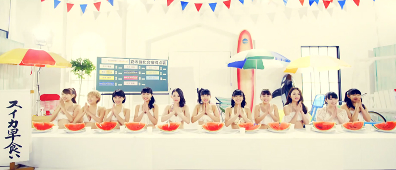 SUPER☆GiRLS-スイカ早食い