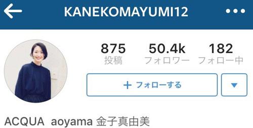 金子真由美-instagram