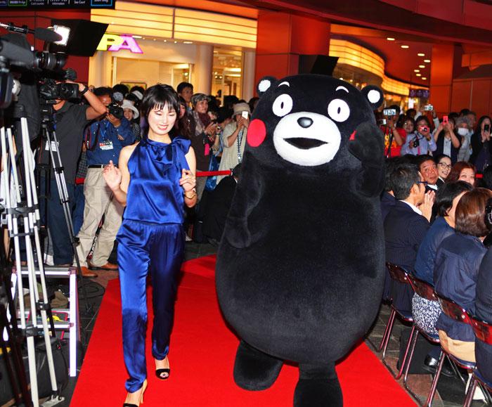 伊沢恵美子-くまモン-福岡国際映画祭