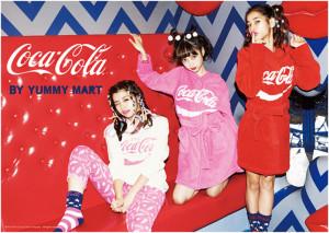 佐原モニカ-中村里砂-池田エライザ-YUMMY MART-CocaCola