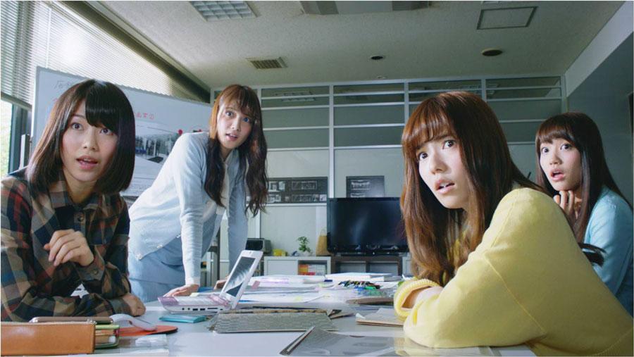 AKB48入山杏奈-加藤玲奈-島崎遥香-横山由依-ワンダCM