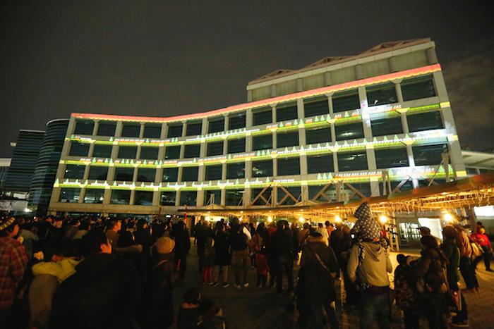 中山競馬場クリスマスイルミネーション点灯式2015