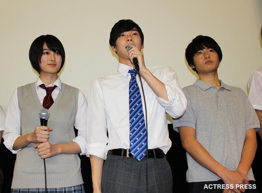 高月彩良-柾木玲弥-人狼ゲーム初日舞台挨拶20151205