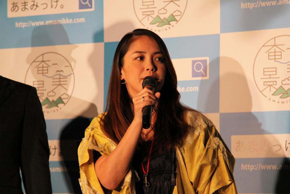 元ちとせ-奄美大島-地域振興構想発表会