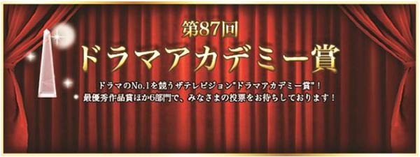 第87回「ザテレビジョンドラマアカデミー賞」