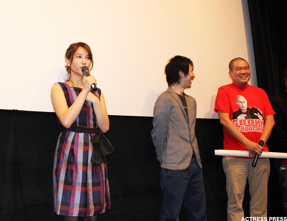 鈴木まりや-比呂啓監督-映画-口裂け女-舞台挨拶