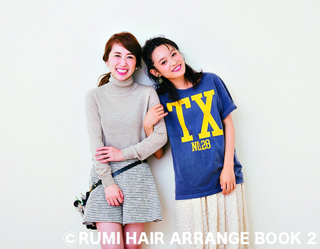 高橋愛×RUMIヘアアレンジのコラボ