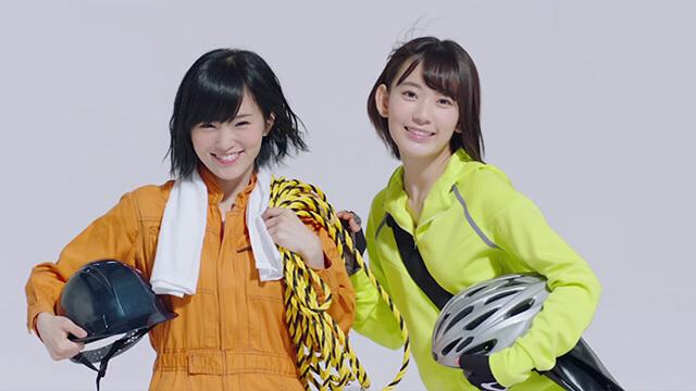 山本彩 宮脇咲良 制服 バイトルCM