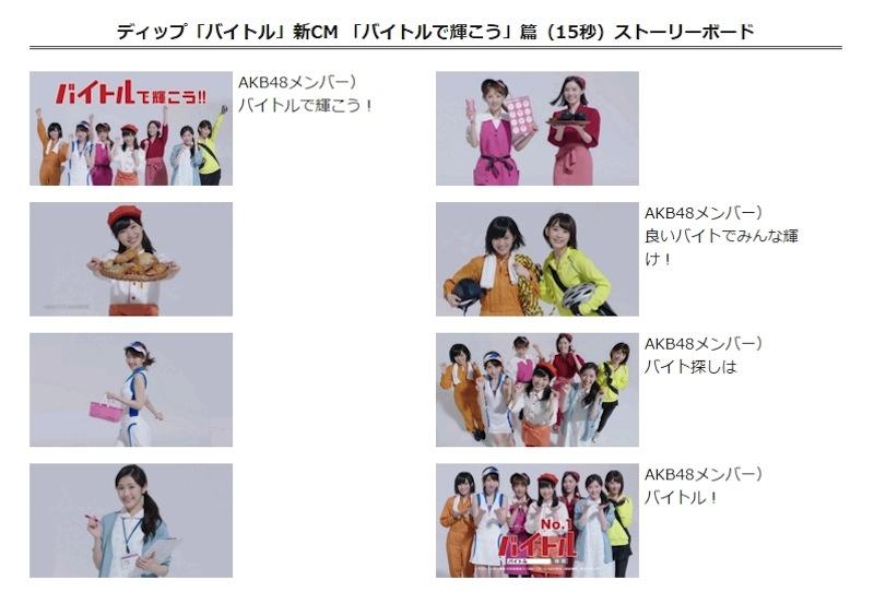 AKB48神7 制服姿 バイトルCMストーリー