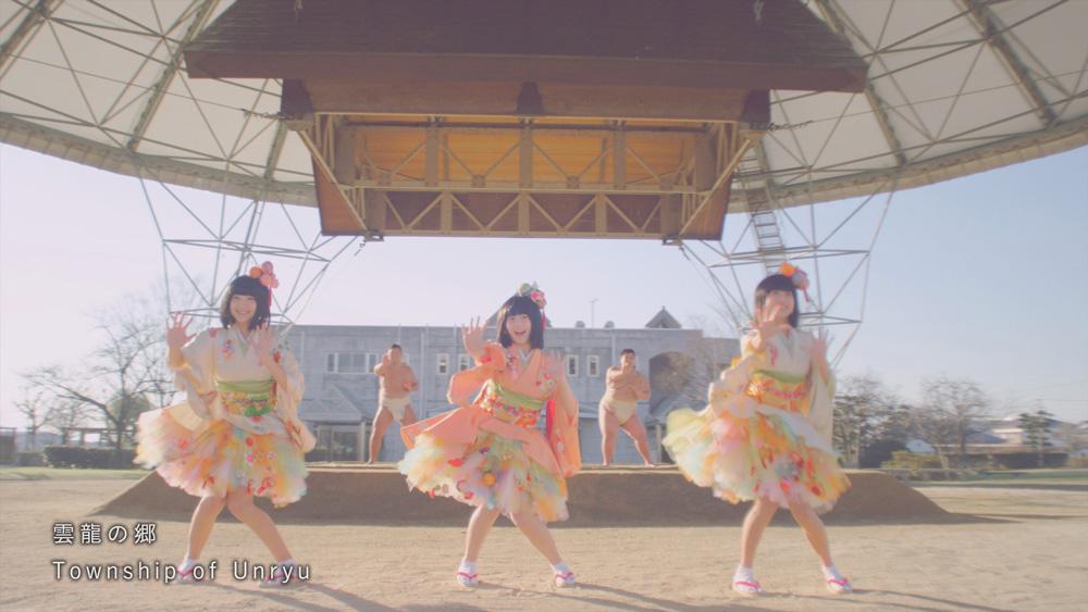 SAGEMON-GIRLS-雲龍の郷でお相撲さんとダンス