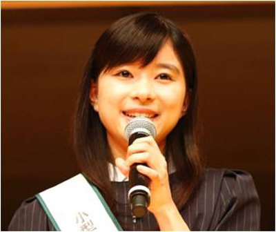 芳根京子-小型家電リサイクル全校集会-PRイベント20160208