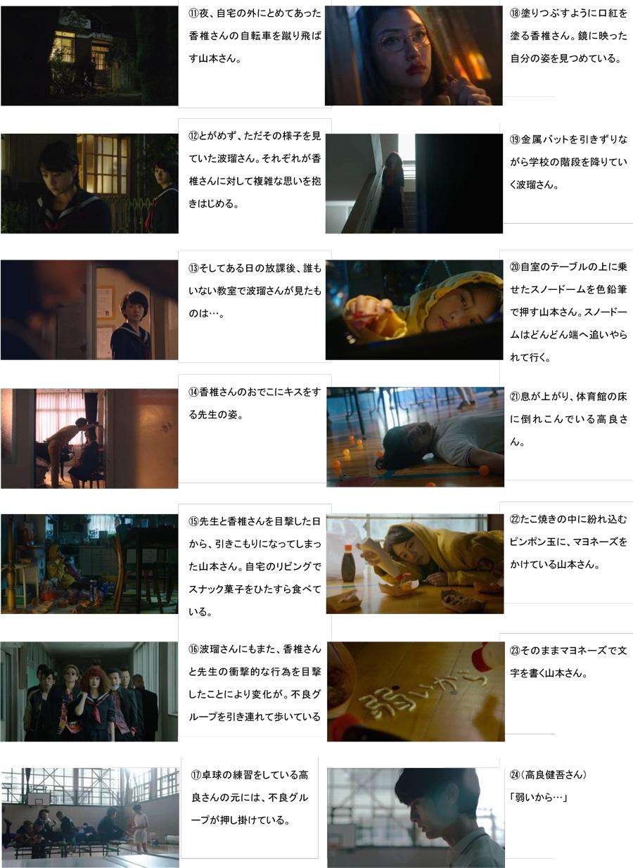 香椎由宇-波瑠-山本美月-ショートムービー-ストーリーボード2