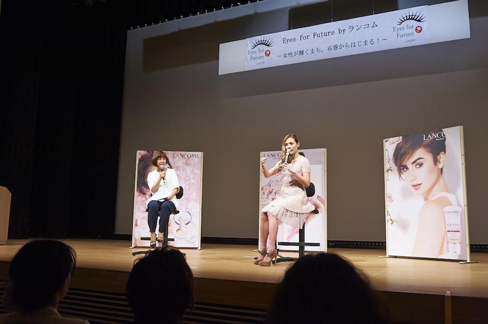 土屋アンナ ランコムの石巻女性支援プログラム・トークセッション