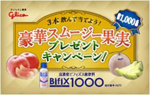 『高濃度ビフィズス菌飲料BifiX1000』豪華スムージー果実プレゼント