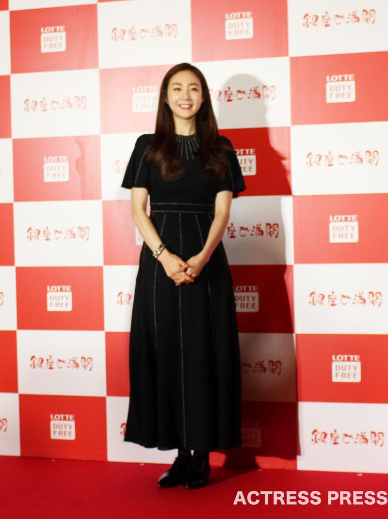 チェ・ジウ、「ロッテ免税店銀座」オープニング記者発表会