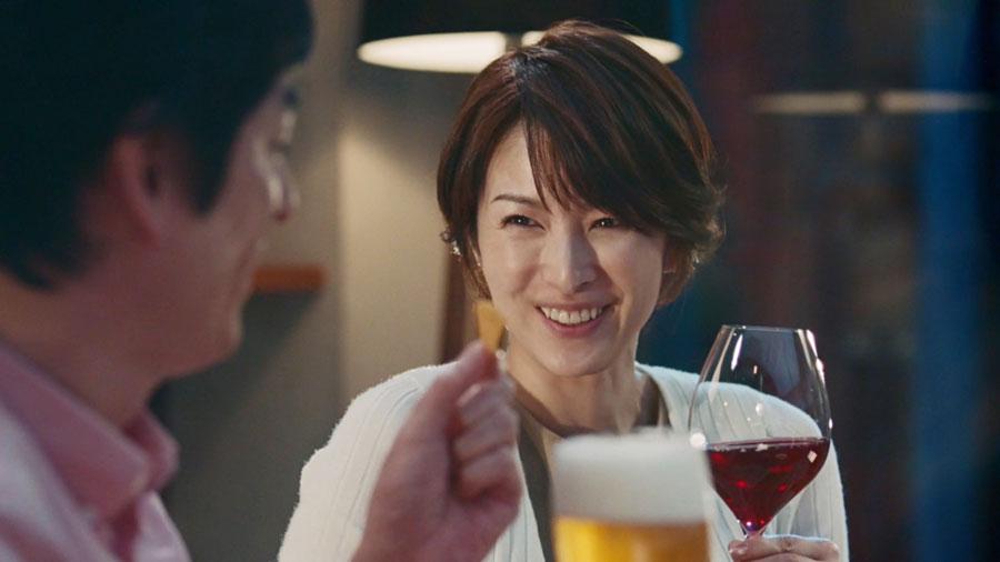 吉瀬美智子・江崎グリコ・生チーズのCheeza(チーザ)CM