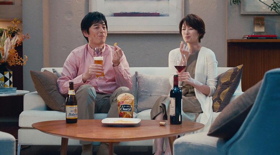 吉瀬美智子&博多大吉・江崎グリコ・生チーズのCheeza(チーザ)CM