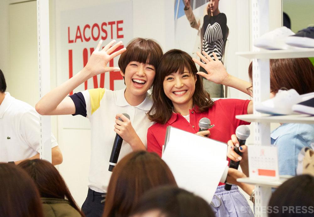 佐藤ありさ & 佐藤栞里、『LACOSTE POLOショップ』の一日店長