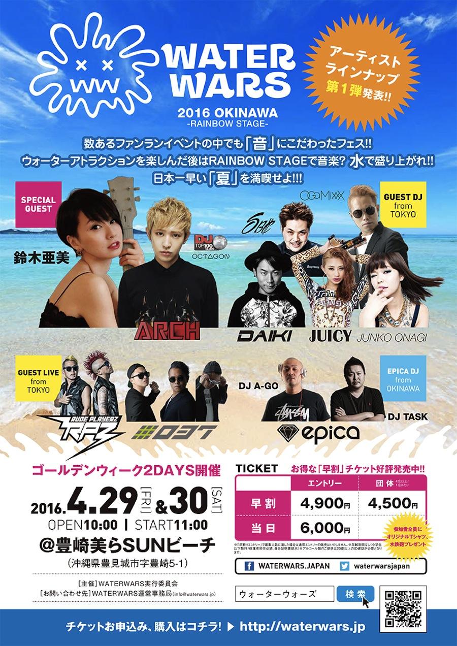 「水かけ祭」の日本版WATERWARS沖縄