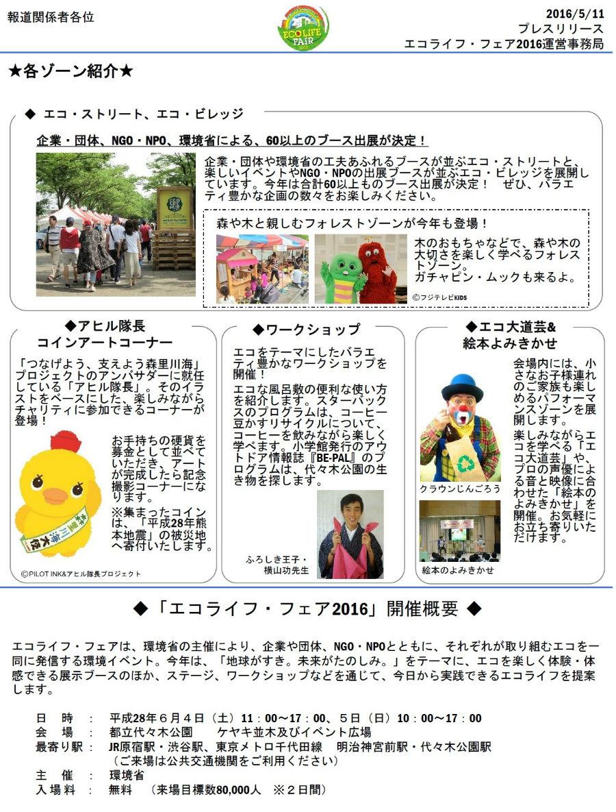 エコライフ・フェア2016・各ゾーン紹介