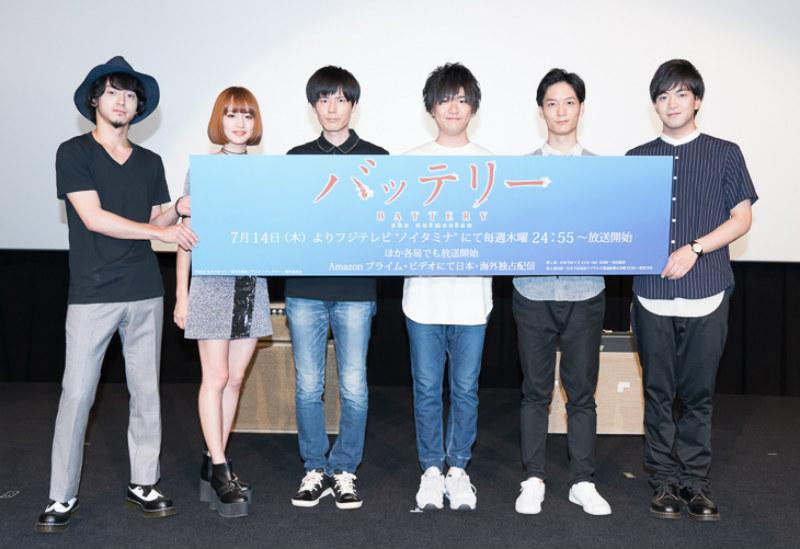 """anderlust(越野アンナ・西塚真吾)TVアニメ""""バッテリー""""先行上映イベント"""