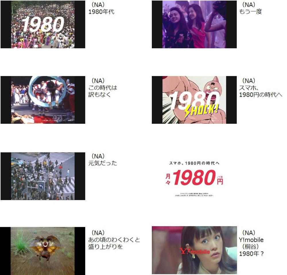 桐谷美玲 Y!mobile 新CM(15秒)「1980はじまる A」篇