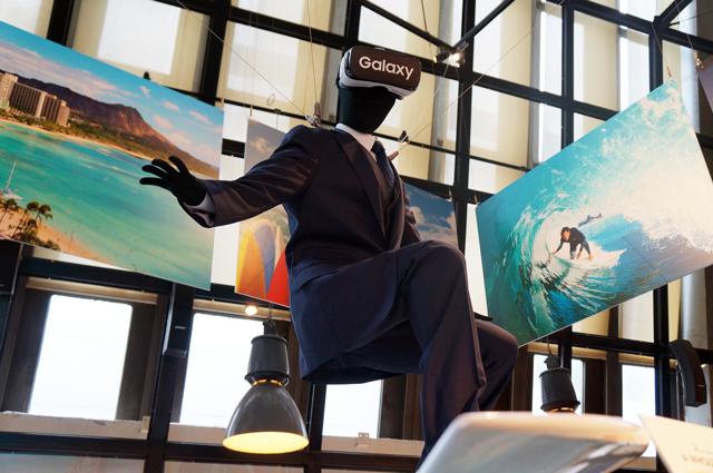 Gear VRでハワイトリップ体験コーナー