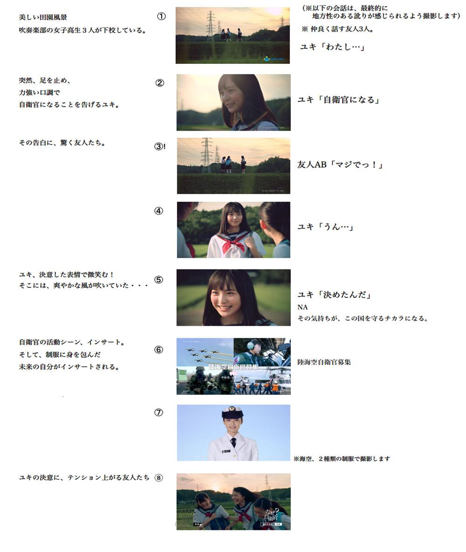 駒井蓮主演!平成28年度自衛官募集CM STORY