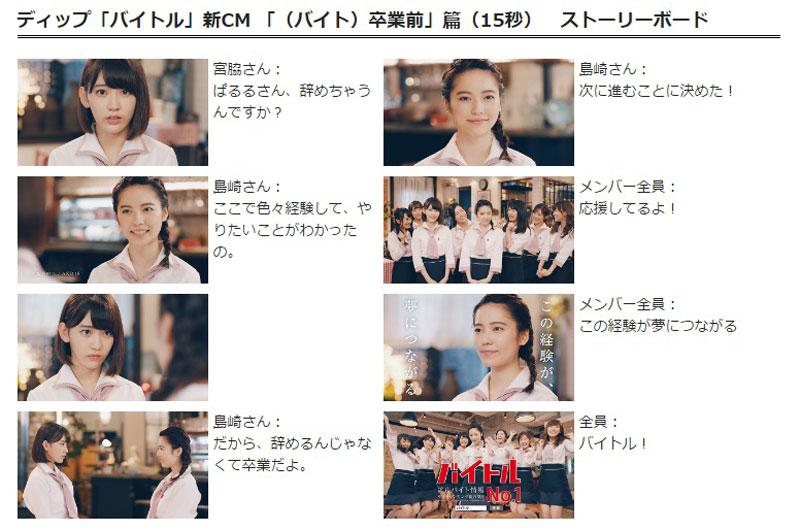 島崎遥香 バイトルCM STORY