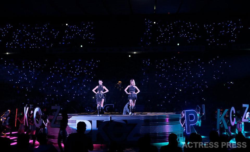 ShuuKaRen(E-girls 藤井萩花&夏恋) 日本男子プロバスケットボールリーグB.LEAGUE開幕戦