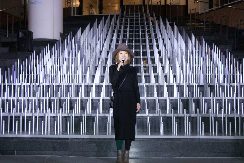 吉田愛 ららぽーと・ラゾーナ クリスマスイルミネーション点灯式