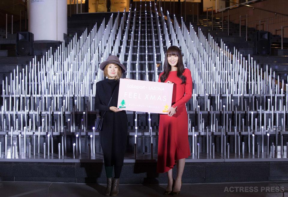 高梨臨 ららぽーと・ラゾーナ クリスマスイルミネーション点灯式