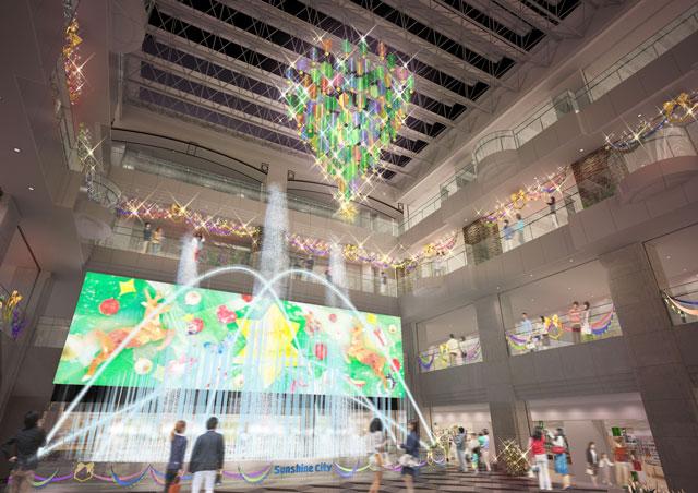 Colorful CHRISTMAS SHOW サンシャインシティ 噴水広場