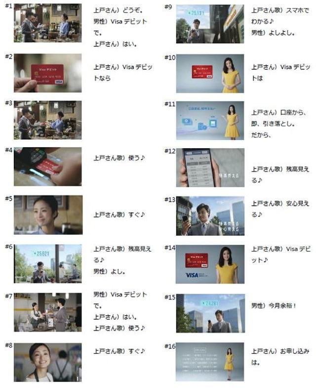 上戸彩 Visaデビットカード 新CM