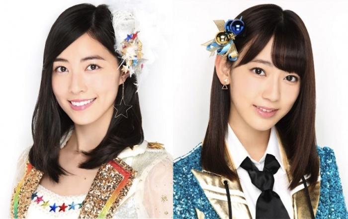 松井珠理奈(SKE48)と宮脇咲良(HKT48兼AKB48)がWセンター