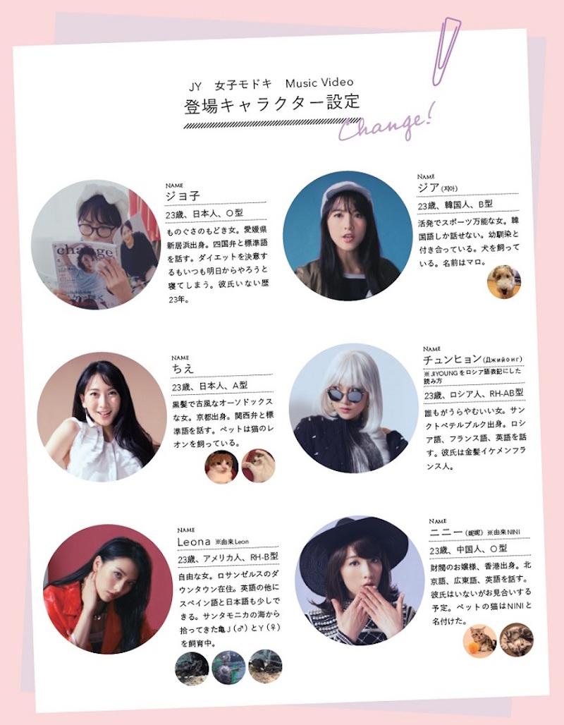 JY(知英)、新曲MV『女子モドキ』6人の人格