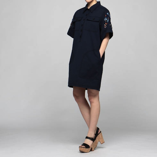 「KOCHÉ(コシェ)」ワークシャツ風ドレスxビジュードレス