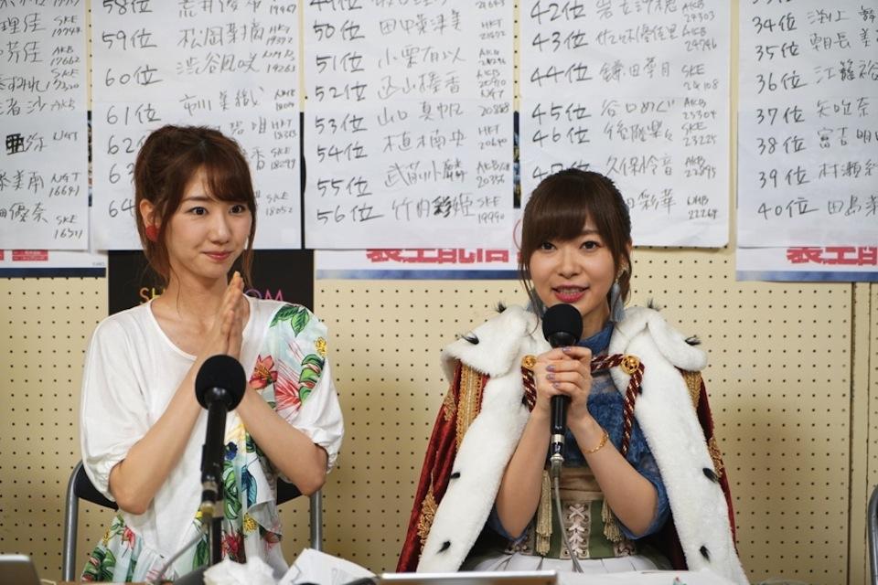 指原莉乃・柏木由紀・AKB48選抜総選挙