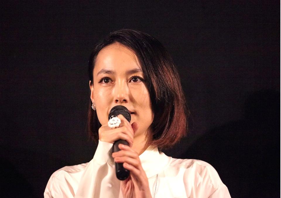 菊地凛子、映画『ハイヒール』初日舞台挨拶