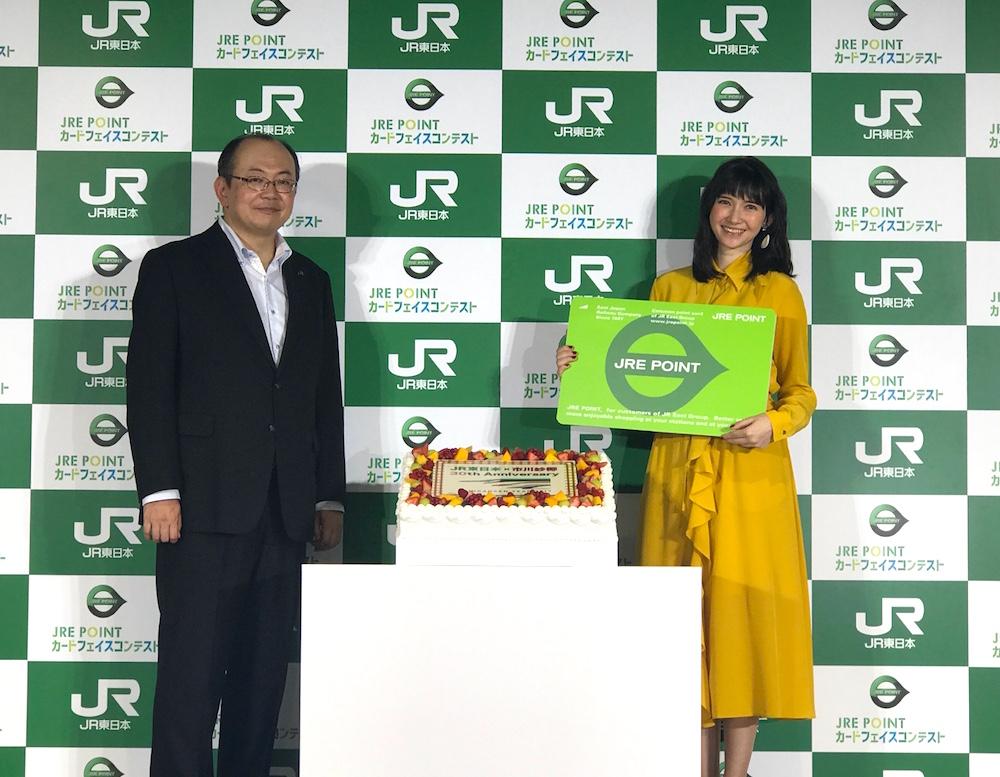 市川紗椰・JR東日本発足30 周年を記念イベント