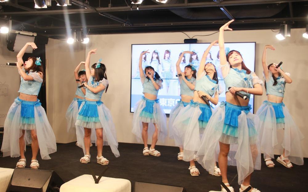 東京CuteCute、池袋ニコニコ本社でデビュー記者会見