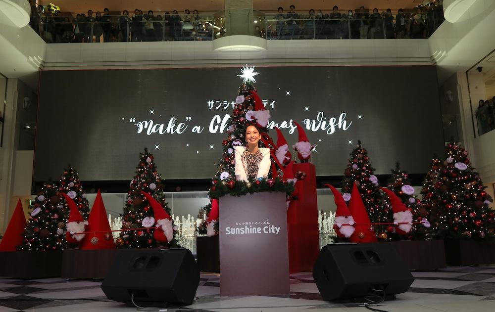 中島美嘉、クリスマスツリー点灯式