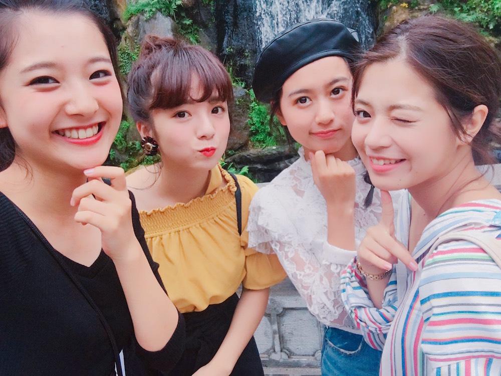悠花、横山紗弓、松元愛由、楠田瑠美 SAGEMON GIRLS in台湾