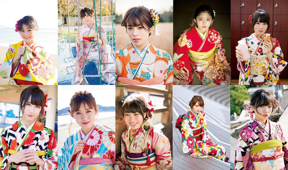 欅坂46の新成人メンバー10人を大胆に撮りおろした「20±SWEET KEYAKIZAKA 2018 JANUARY」